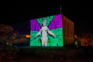 Norwich Castle Projections 17 credit Simon Finlay Photography 2017 Lights 7