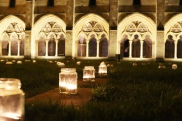 3. candlelit labyrinth event
